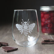 Bee Wine Glass