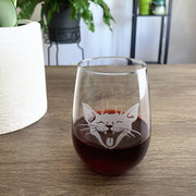 Laughing Cat Wine Glass (Retired)