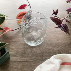 Tea Leaves Plant Wine Glass