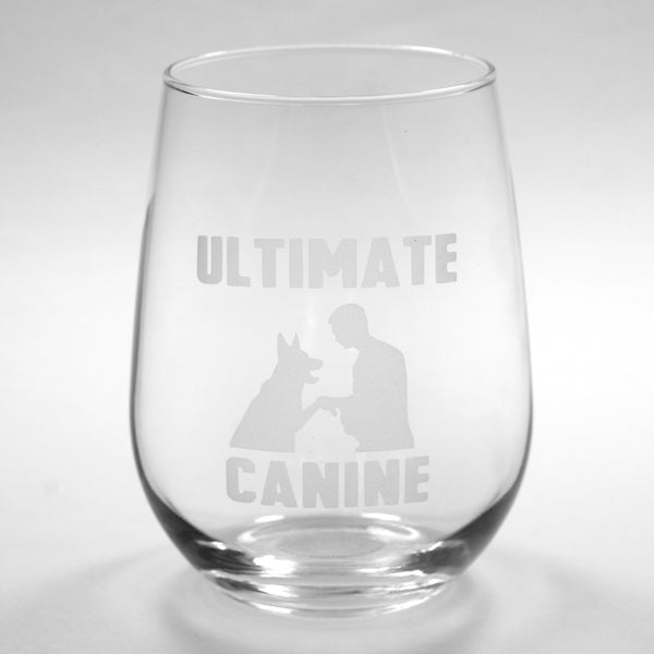 custom logo stemless wine glass