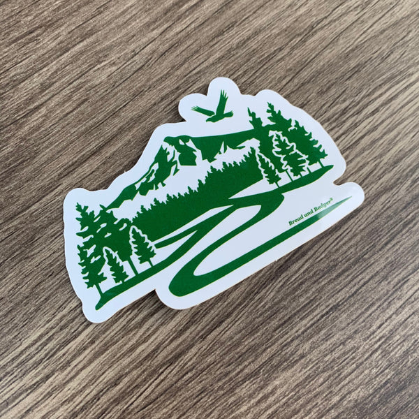 Mt Hood Oregon mountain trail sticker