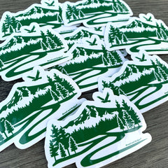 Mt Hood Oregon mountain trail vinyl decals