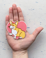 Corgi vinyl decal by Bread and Badger