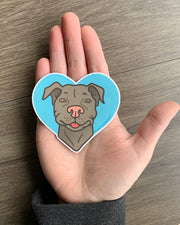 Pit Bull vinyl decal by Bread and Badger