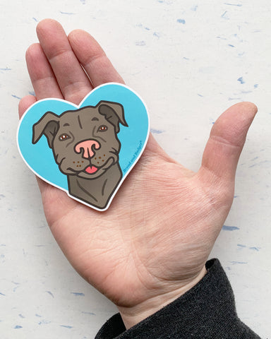 Pit Bull dog decal by Bread and Badger