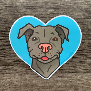 Pit Bull vinyl sticker by Bread and Badger