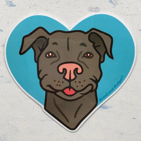 Pit Bull dog sticker by Bread and Badger