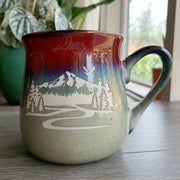 Fiery Sunset rustic Mt Hood mug