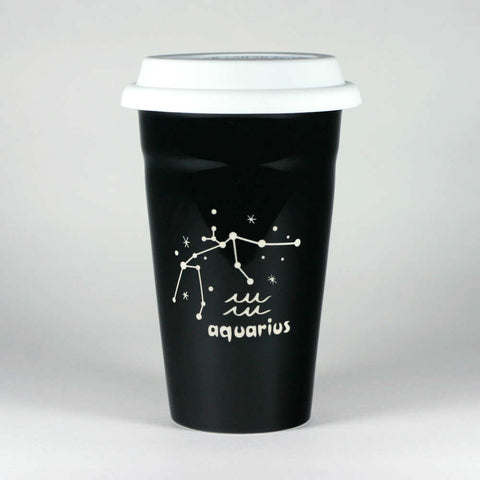 Aquarius Zodiac Constellation Travel Mug