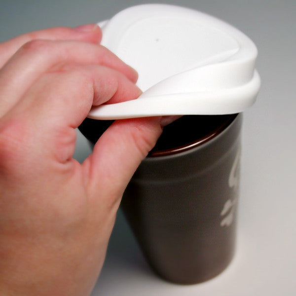 flexible BPA-free silicone travel mug lid