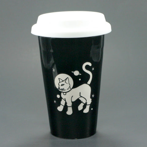Astronaut Cat Travel Mug