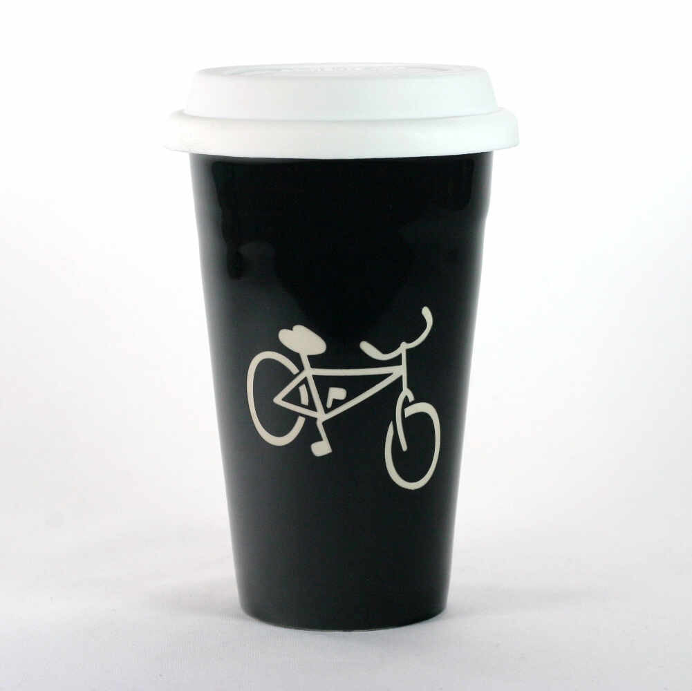 Bicycle travel mug by Bread and Badger