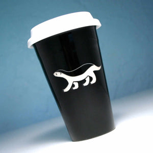 honey badger travel mug by Bread and Badger