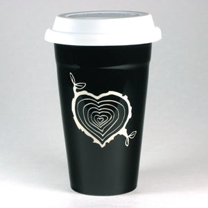 Tree Stump Heart Travel Mug