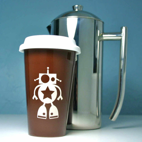 Robot Travel Mug