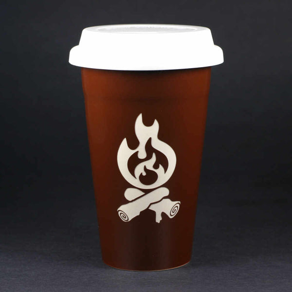 Campfire travel mug, brown, by Bread and Badger