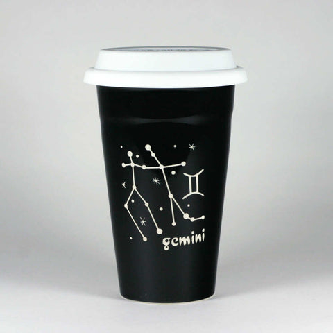Gemini Zodiac Constellation Travel Mug