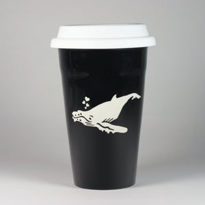 Humpback Whale Ceramic Travel Mug by Bread and Badger