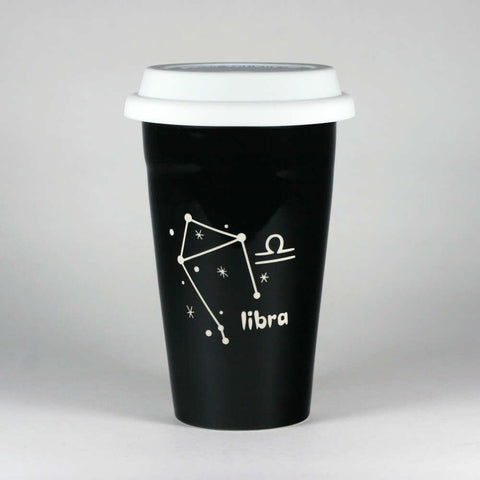 Libra Zodiac Constellation Travel Mug