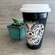 Moth Cat Travel Mug