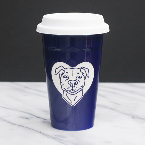 Pit Bull Dog Travel Mug (Retired)