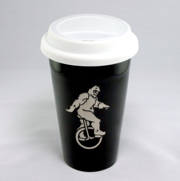 black sasquatch travel mug to-go