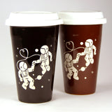 Astronauts in Love travel coffee mugs