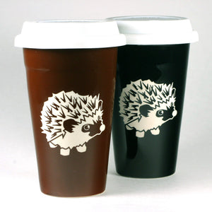 Hedgehog reusable travel mugs