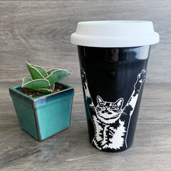 Stretch Cat Travel Mug