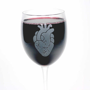 Anatomical Heart Wine Glass by Bread and Badger