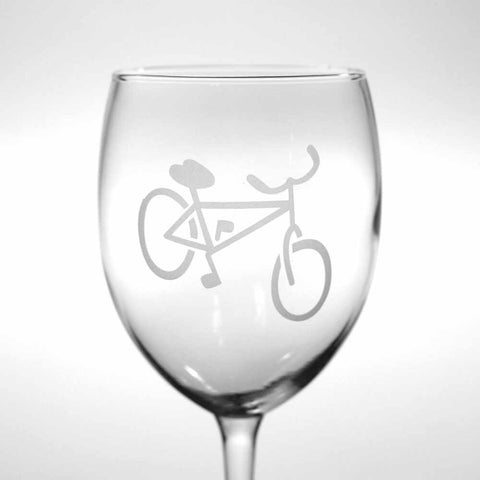Bicycle wine glass by Bread and Badger