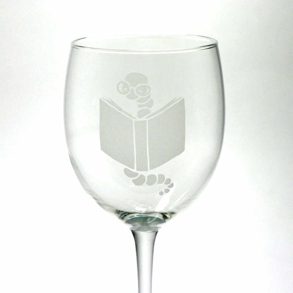bookish bookworm wine glasses