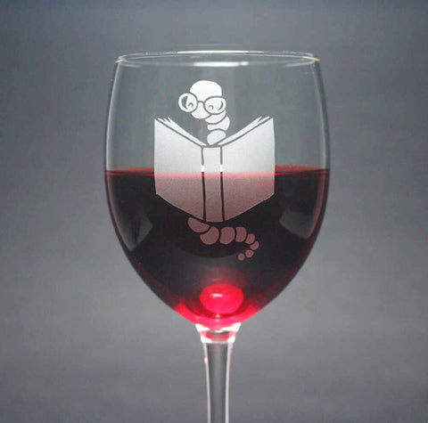 Bookworm Wine Glass