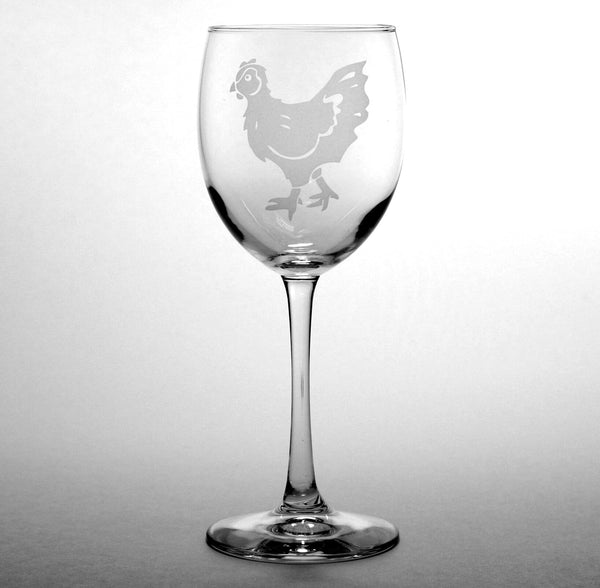 hen wine glasses