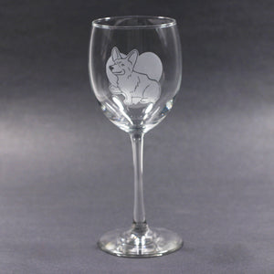 Corgi dog wine glass by Bread and Badger