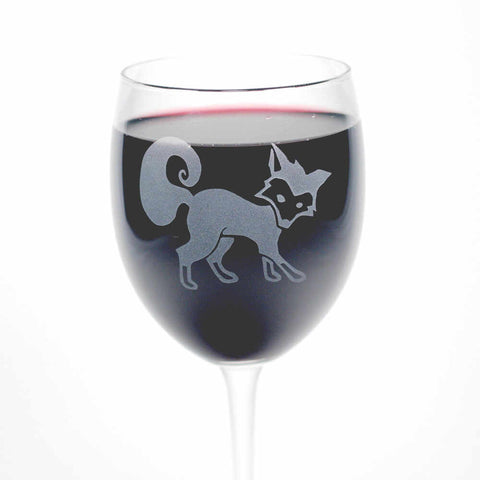Fox Wine Glass