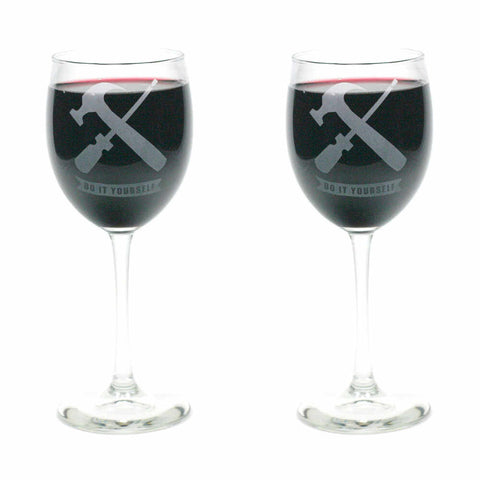 Do It Yourself wine glass set of 2