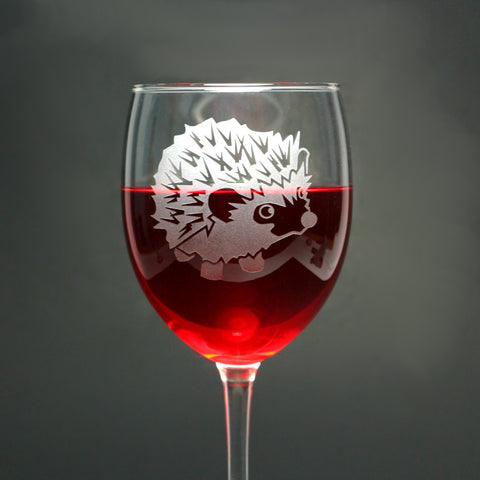 Hedgehog Wine Glass