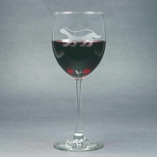 Honey Badger wine glass by Bread and Badger