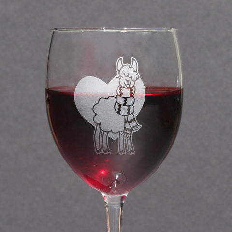 Llama wine glass by Bread and Badger