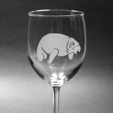 Manatee wine glass by Bread and Badger