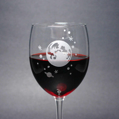 Moon and Stars Wine Glass