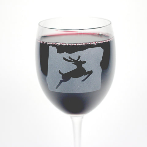 Oregon Stag Wine Glass