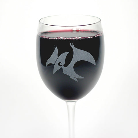 Pterodactyl Wine Glass
