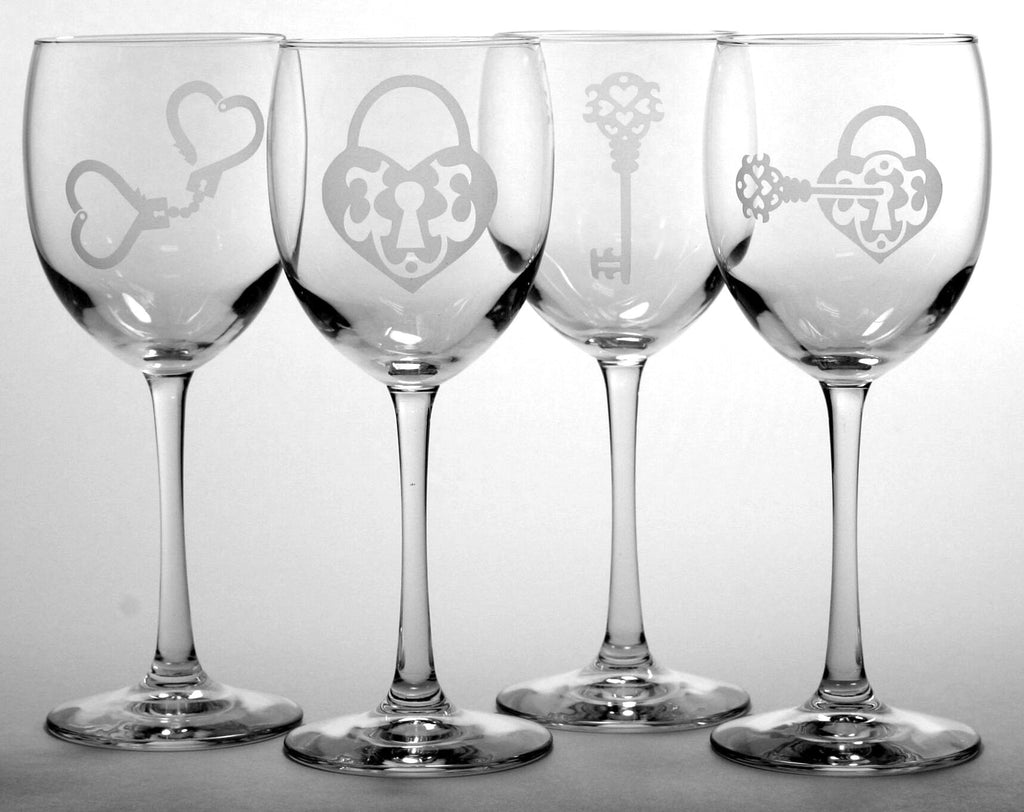 Lock and Key Collection Wine Glasses