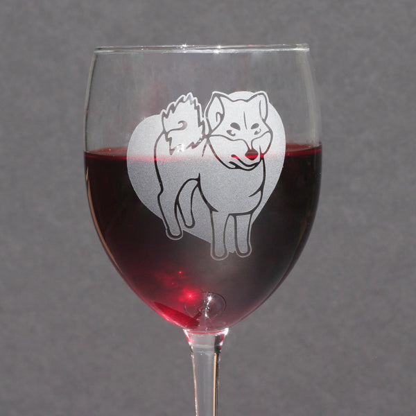 Shiba Inu wine glass by Bread and Badger