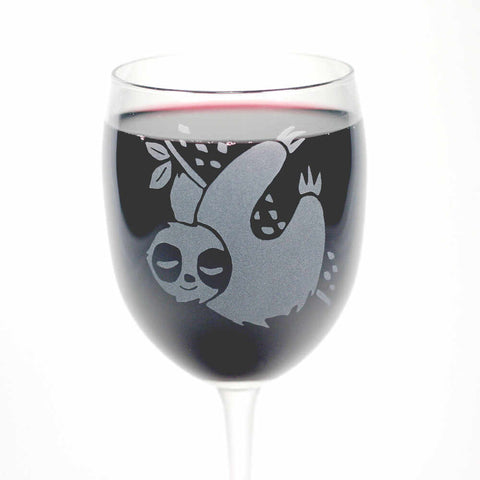 Sloth wine glass