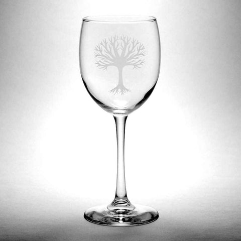 tree wine glass