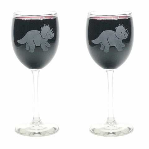 Triceratops Wine Glass (Retired)