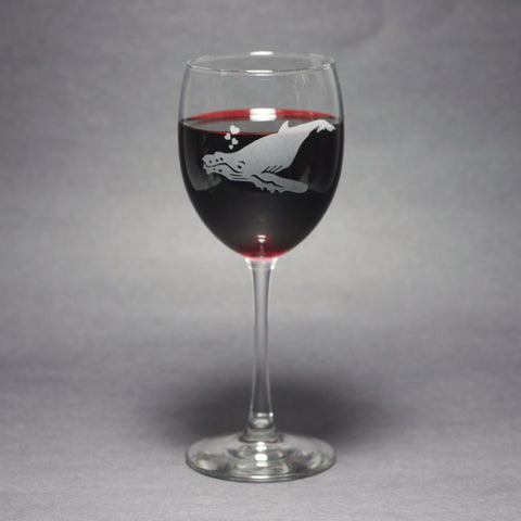 Humpback whale wine glasses by Bread and Badger